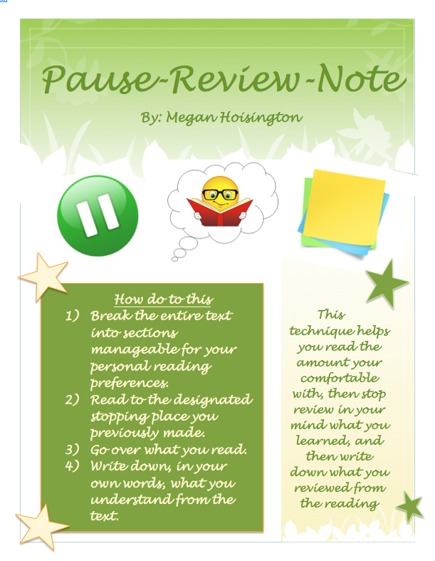 Pause Review Note Strategy