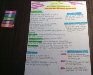Organizing Anatomy notes with color and categories